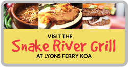 Snake River Restaurant and Grill at KOA Campgrounds, Dayton, Pomeroy, Starbuck, WA